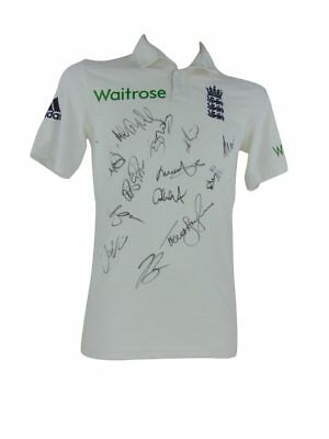 England Cricket Signed Test Shirt + Photo Proof *see Players Sign This Shrt*