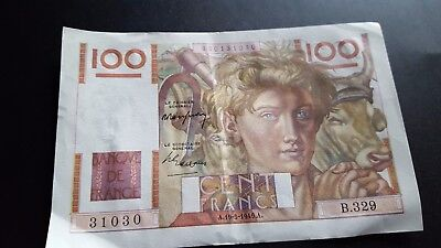 france currency 100 francs m955