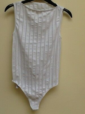 Wolford white velvet mix body size Medium