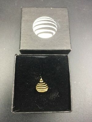 10k 1/20 Gold at&t Phone Authentic Employee Service Award Lapel Pin (20 Years)