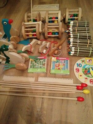 Job Lot , Wooden Toys  Crayons ,high Quality , Solid Wood , Big Selection ,23 It