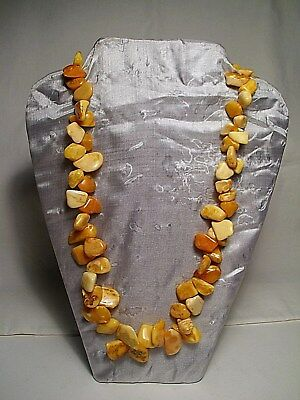 Natural Baltic Amber Necklace ~ #3 ~ Unusual Nugget Shape!!