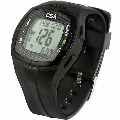 CSX Heart Rate Monitor Watch with Chest Strap, HRM C536X, Black transmitter New