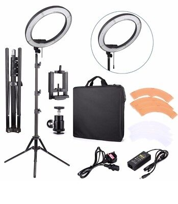 """18""""55W 240 Pieces LED SMD Ring Light 5500K Dimmable Ring Light kit W Light Stand"""
