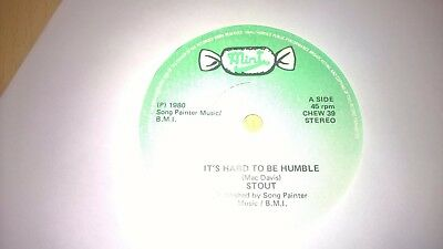 "STOUT - Hard To Be Humble - IRISH FOLK TRAD 7"" 1980 IRELAND"