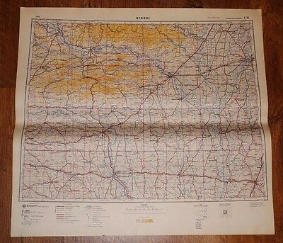 Authentic Soviet Russian Military Topographic Map Memphis, Tennessee USA