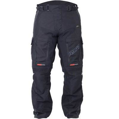 New Rst Adventure Iii 1850 Black Textile Trousers Size: 36 Regular