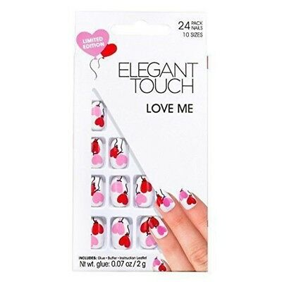 Elegant Touch False Nails - Love Me Design - Limited Edition 24 Nail Pack