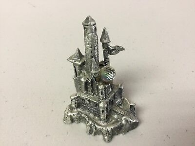 Ballena Bay Pewter Castle With Iridescent Crystal Ball #283R