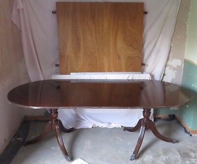 twin pedestal,extending,dining table,conference,office,large,mahogany  offers