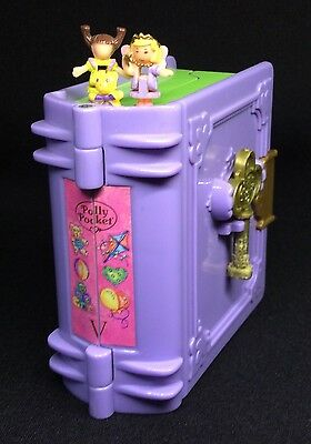 Polly Pocket Mini 💛 1996 Buch lila Polly's Toy Land Book Key (2)