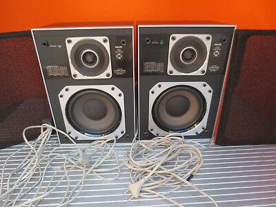 Philips 585 electronic Aktiv Lautsprecher MFB Motional Feedback Active speakers