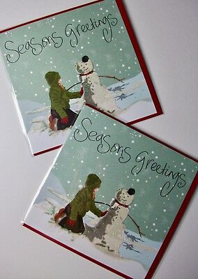 CHRISTMAS CARDS X12, JUST 25p, GLITTERED, WRAPPED, SUPERB! (CD2