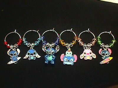 Disney Super Stitch Combo 6 Wine Charm Set #2** NEW ITEM**