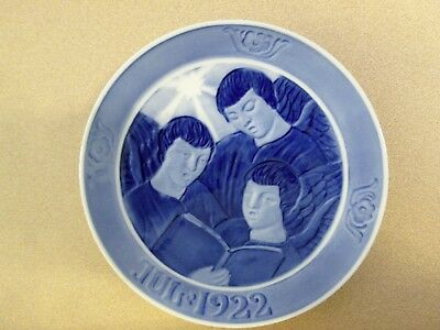"Royal Copenhagen ""three Angels Singing"" 1922 Christmas Plate"