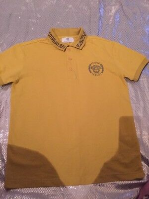 Bnwt Boys Age 8-12 Designer Young Versace Tee Shirt Chest