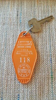 Howard Johnson's Motor Lodge Hotel Key.  Manchester, N.H. Room 118
