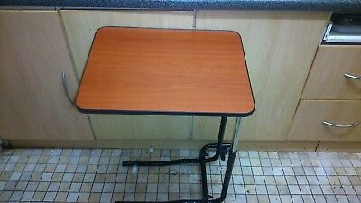NRS Healthcare M01278 Overbed & Chair Table Divan Style Tilting & Adjustable