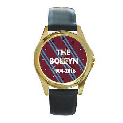 Hammers Boleyn Ground 1904-2016 West Ham Round Wristwatch **superb Gift Item**