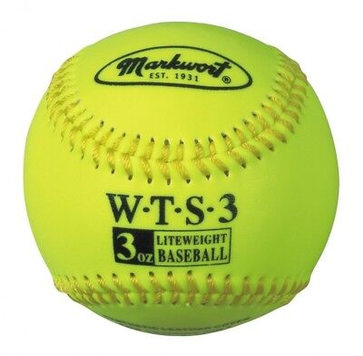 Markwort Weighted Synthetic Covered Baseball, 23cm , 90ml, Optic Yellow