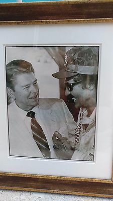 "President Ronald Reagan & Dale Earnhardt Sr. Framed Photo; 16"" x 14"" NASCAR"