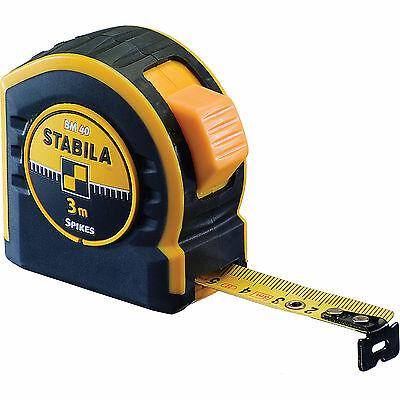 Stabila BM40 Series Pocket Tape Measure Imperial & Metric 33ft / 10m 27mm