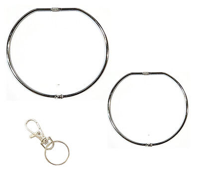 Jailers Keyring Large Hinged Key Ring + Swivel Clip  100mm  150mm  UK Supplier