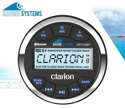 Clarion Marine Usb/mp3/wma Receiver With Built-In Bluetooth Gr10Bt