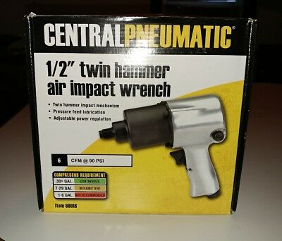 "Central Pneumatic 1/2"" Twin hammer Air Impact Wrench (69916) New!!!"