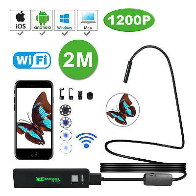 HD Wifi Endoscope 1200P Borescope Waterproof Camera Scope Rigid For IOS Android