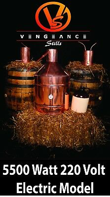 20 GALLON 5500 Watt ELECTRIC Copper Moonshine Still Complete Kit W