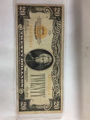 1928-E $20 US Gold Certificate Collectible