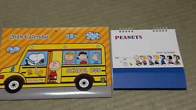 set of 2 Peanuts Snoopy 2018 calendars: 1 wall, 1 desk --just $12 incl. shipping