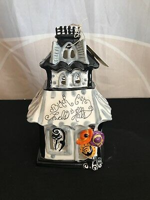 "blue sky clayworks. Halloween.  "" black cat shop candle house """