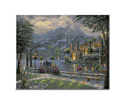 Paint by Number Kit STRETCHED CANVAS Wood Frame 16x20 NIGHT MOUNTAIN GX3869