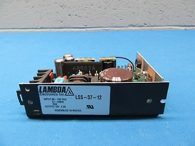 Lambda LSS-37-12 Power Supply, Input: 85-132VAC 70W, Output: 12V, 4.2A