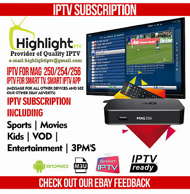 6 Month UK IPTV + VOD Subscription (Smart TV, MAG, Zgemma,M3U).See our feedback