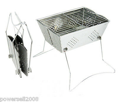New Outdoor Stainless Steel Household Portable Folding Charcoal BBQ Grill