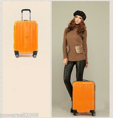 PC0823 24 Inch Fashion ABS + PC Business Travel Draw-Bar Suitcase Luggage