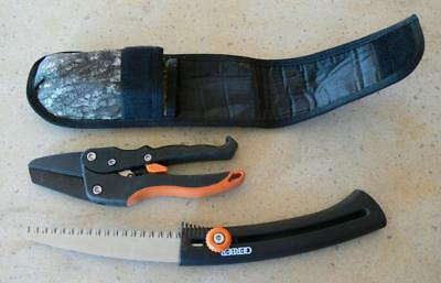 Gerber 46902 Deluxe Hunter's Pruning Kit Sport Saw, Ratcheting Pruner and Sheath