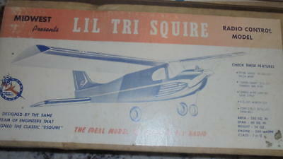 Vintage Midwest Lil Tri Squire model airplane kit