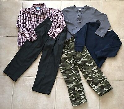 Lot of Boys Clothes Shirts Pants School Winter Size 5 6