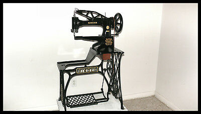 Singer 29-4 Industrial Cylinder Sewing Machine- Best On Ebay - Must See This !