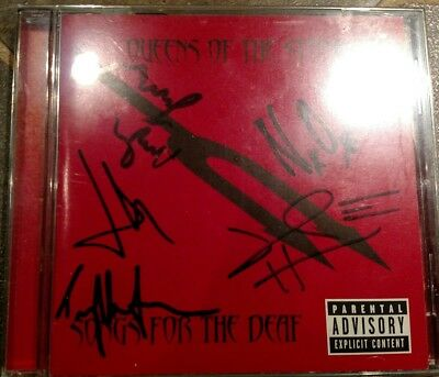 Queens Of The Stone Age Signed Autographed Full Band CD Cover