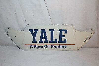 "Vintage 1950's Yale Tires Tire Pure Oil Co. Gas Station 22"" Metal Sign"