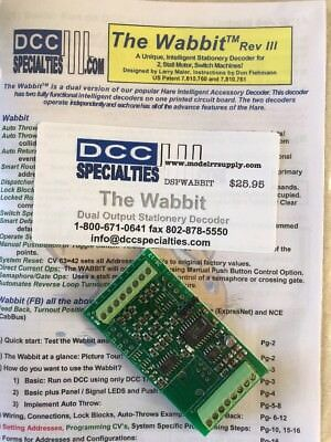 DCC Specialties WABBIT Stationary Decoder for TWO Switch Machines  MODELRRSUPPLY