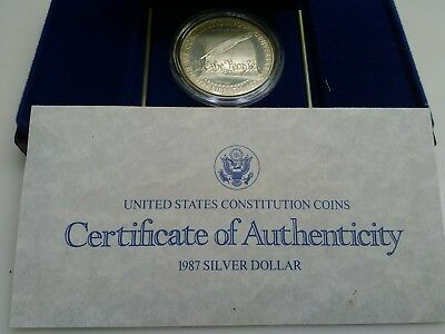 ☆☆ 1987 S 200Th Ann. Of Constitution ☆ Coa And Mint Pkg. ☆☆