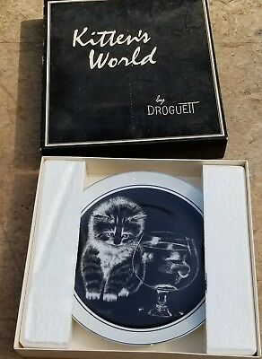 "Kitten's World Collector Plate by Droguett ""Just Curious"""