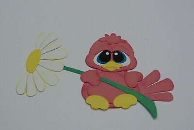Big Eyed Birdie Holding A Daisy Fully Assembled In Flimgino