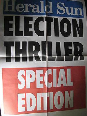 ELECTION THRILLER Herald Sun 2010 POSTER